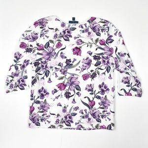 Karen Scott Women's Plus Size Floral Printed Shirt